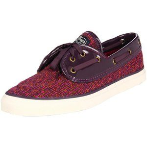Sperry Seamate Rose Boucle Deck Shoes Size 9.5